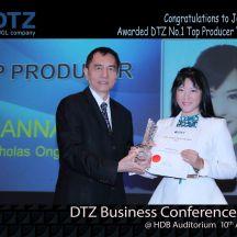 DTZ 1st Top producer Joanna