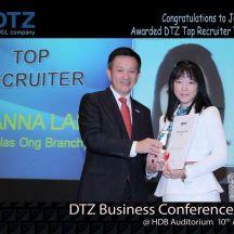 DTZ 1st Top Recruiter Joanna